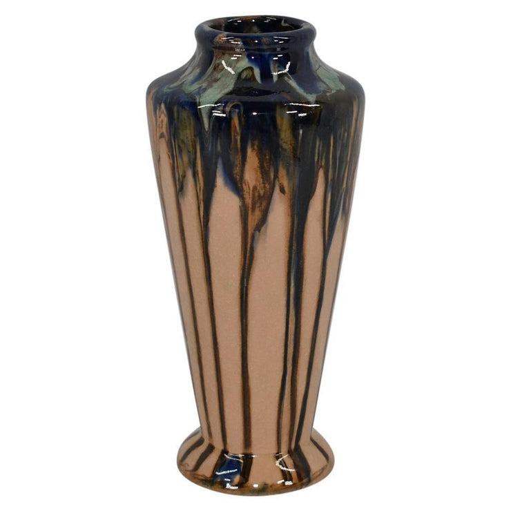 Peters And Reed Pottery Shadow Ware Drip Glaze Vase from Just Art Pottery