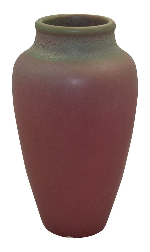 Rookwood Pottery 1904 Green Over Red Glaze Vase 943D - Just Art Pottery