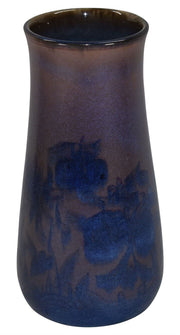 Rookwood Pottery 1925 Black Opal Glaze Floral Vase 1023C (Epply) - Just Art Pottery