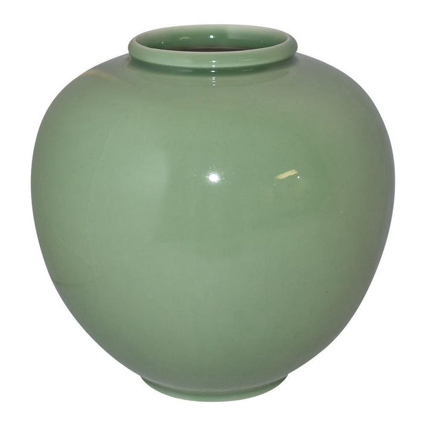 Rookwood Pottery 1950 Large Bulbous Green Mid Century Modern Vase 6204C from Just Art Pottery