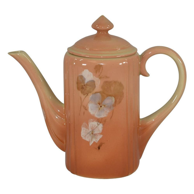 Rookwood Pottery Cameo Pansy Tea Pot from Just Art Pottery