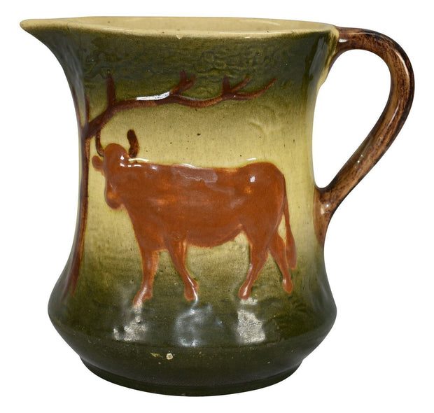 Roseville Pottery 1910-16 Early Ware The Cow Ceramic Pitcher - Just Art Pottery