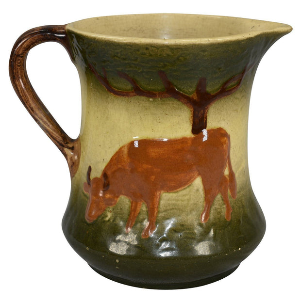 Roseville Pottery 1910-16 Early Ware The Cow Ceramic Pitcher from Just Art Pottery