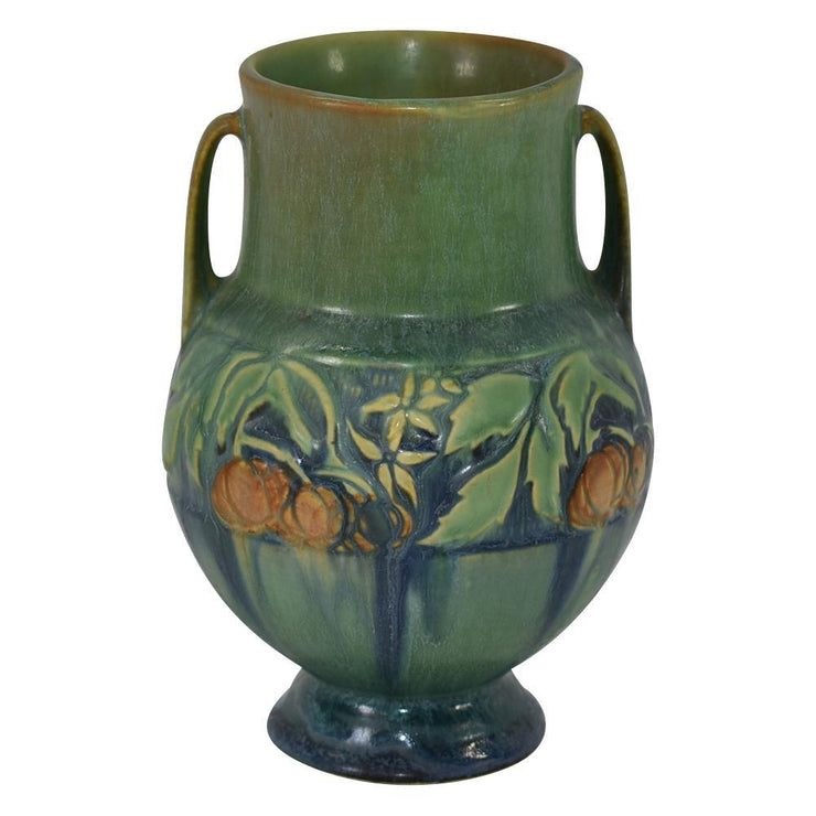 Roseville Pottery Baneda Green Arts and Crafts Ceramic Vase 589-6 from Just Art Pottery