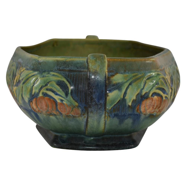 Roseville Pottery Baneda Green Console Bowl 233-8 from Just Art Pottery