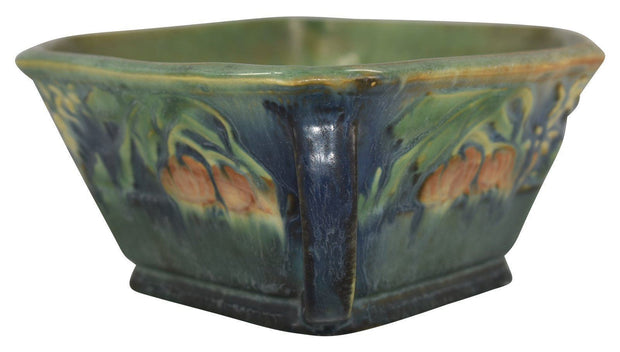 Roseville Pottery Baneda Green Console Bowl 234-10 - Just Art Pottery