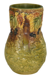 Roseville Pottery Blackberry Vase 575-8 - Just Art Pottery