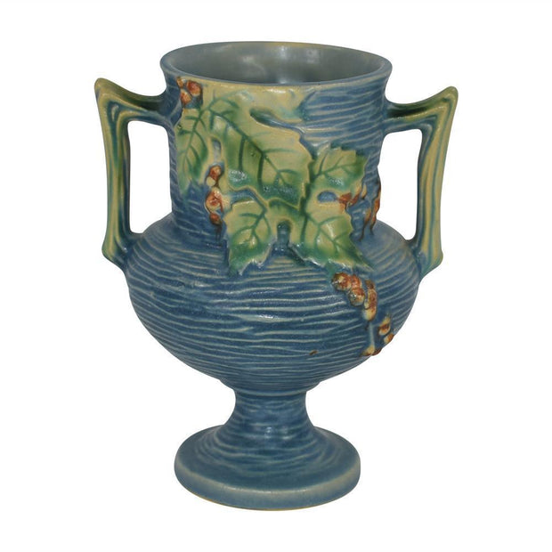 Roseville Pottery Bushberry Blue Vase 156-6 from Just Art Pottery