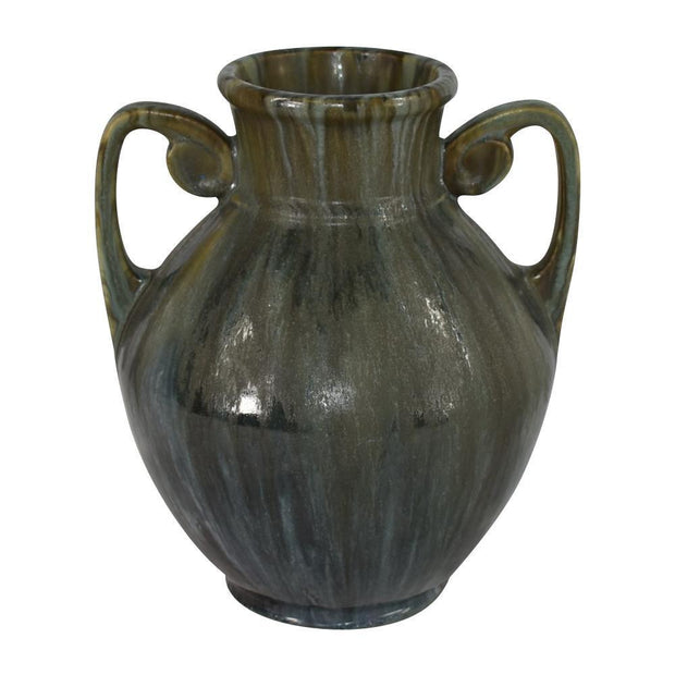 Roseville Pottery Carnelian II Mottled Green And Black High Glaze Vase 311-7 from Just Art Pottery