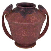 Roseville Pottery Carnelian II Mottled Red Arts And Crafts Handled Vase 334-8 from Just Art Pottery