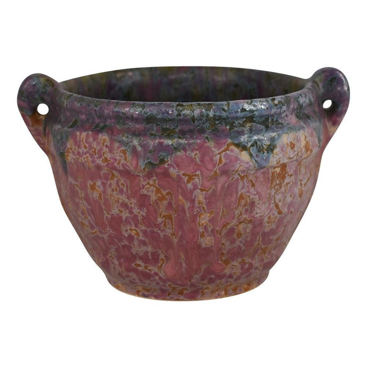 Roseville Pottery Carnelian II Red Arts And Crafts Jardiniere Planter 548-4 from Just Art Pottery