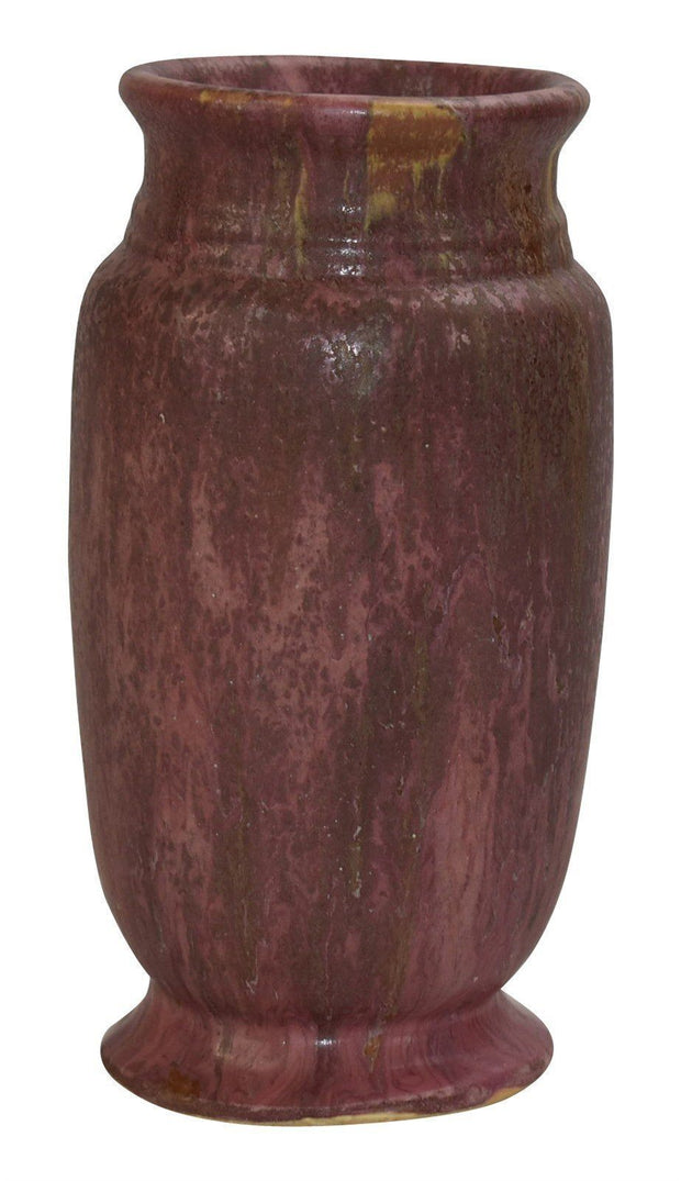 Roseville Pottery Carnelian II Red Vase 308-7 from Just Art Pottery