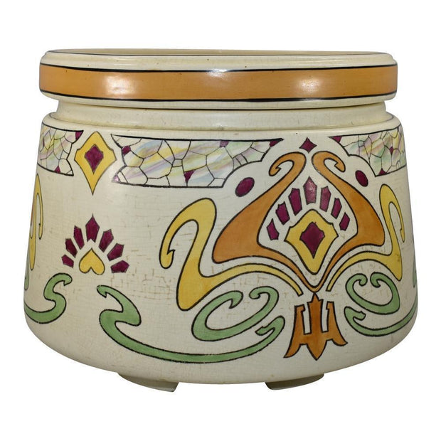 Roseville Pottery Ceramic Design Persian Planter With Liner 523-10 - Just Art Pottery