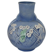 Roseville Pottery Clemana Blue Art Deco Vase 756-9 from Just Art Pottery