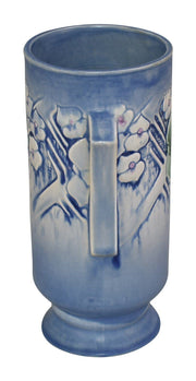 Roseville Pottery Clemana Blue Vase 755-9 - Just Art Pottery