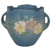 Roseville Pottery Cosmos Blue Jardiniere 649-3 from Just Art Pottery