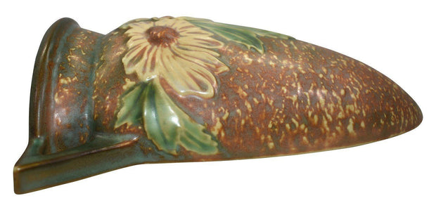Roseville Pottery Dahlrose Wall Pocket 1258-8 - Just Art Pottery