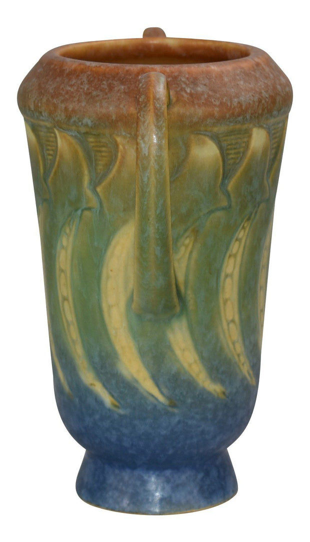 Roseville Pottery Falline Blue Vase 642-6 - Just Art Pottery