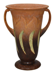 Roseville Pottery Falline Brown Vase 646-8 - Just Art Pottery