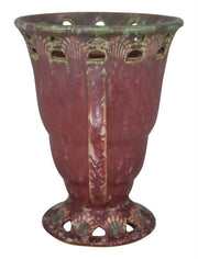 Roseville Pottery Ferella Red Ceramic Vase 502-6 - Just Art Pottery