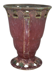 Roseville Pottery Ferella Red Ceramic Vase 502-6 from Just Art Pottery