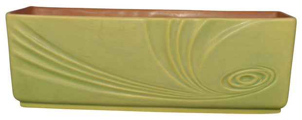Roseville Pottery Florane II Green Art Deco Planter 96-10 - Just Art Pottery