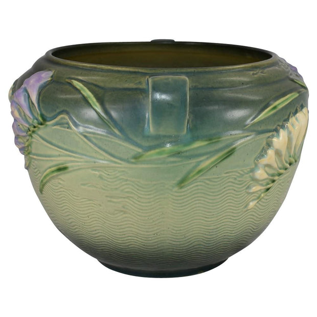 Roseville Pottery Freesia Green Jardiniere 669-8 from Just Art Pottery