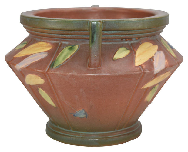 Roseville Pottery Futura Tan Ceramic Jardiniere 616-6 - Just Art Pottery