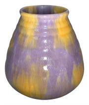 Roseville Pottery Imperial II Purple and Yellow Ceramic Vase 469-6 - Just Art Pottery
