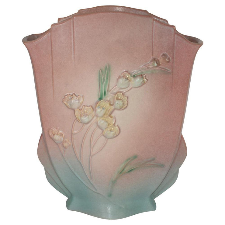 Roseville Pottery Ixia Pink Pillow Vase 863-10 from Just Art Pottery