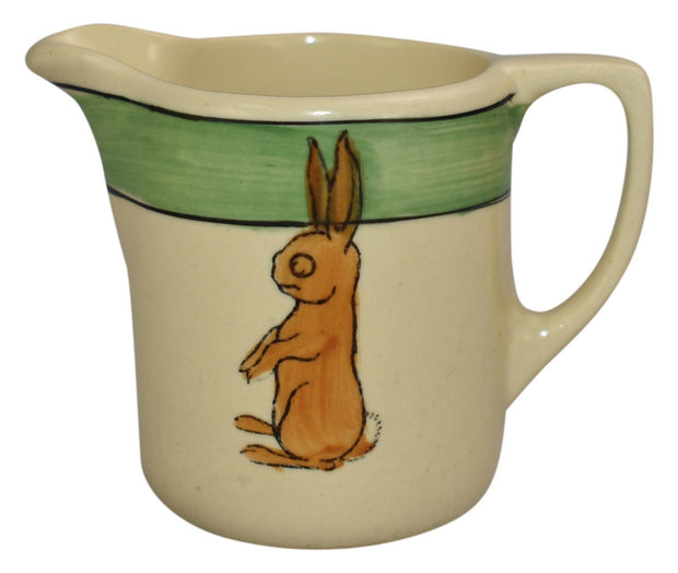 Roseville Pottery Juvenile Creamware Standing Rabbit Creamer 6 - Just Art Pottery