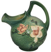 Roseville Pottery Magnolia Green Cider Pitcher 1327 - Just Art Pottery