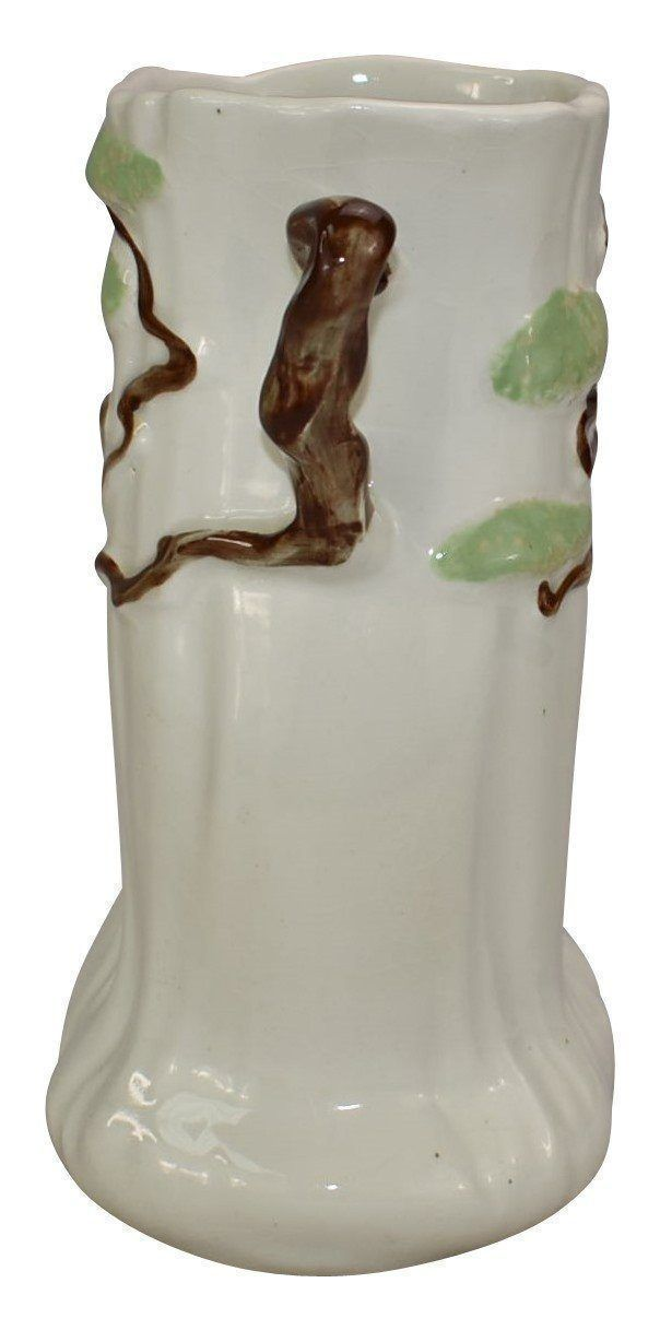 Roseville Pottery Ming Tree White Vase 582-8 - Just Art Pottery