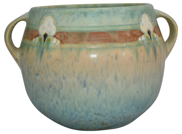 Roseville Pottery Montacello Green Vase 559-5 - Just Art Pottery