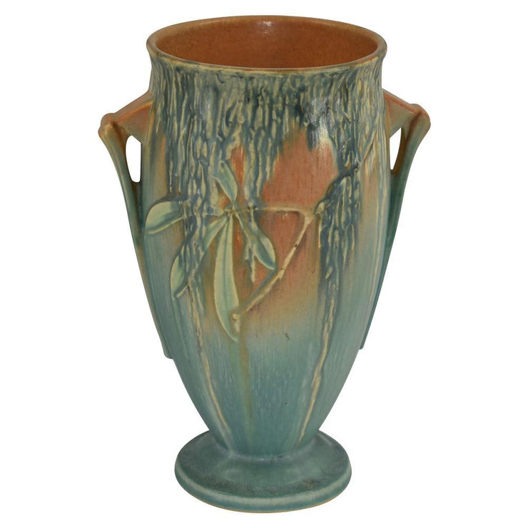 Roseville Pottery Moss Tan And Green Vase 782-9 from Just Art Pottery