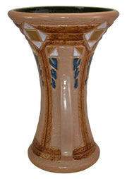 Roseville Pottery Mostique Tan Ceramic Handled Vase 532-10 - Just Art Pottery