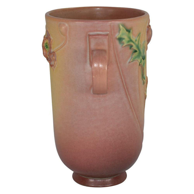 Roseville Pottery Poppy Pink Vase 871-8 - Just Art Pottery