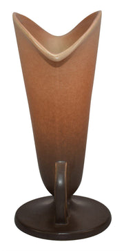 Roseville Pottery Rozane Patterns Brown Art Deco Ceramic Vase 6-9 - Just Art Pottery