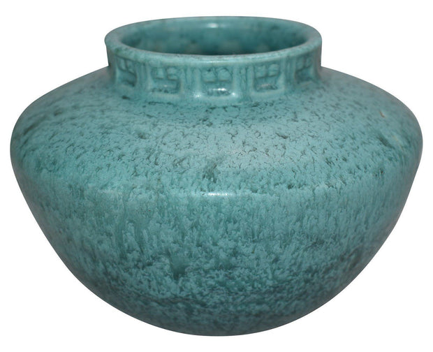 Roseville Pottery Tourmaline Turquoise Ceramic Bowl A-200-4 - Just Art Pottery