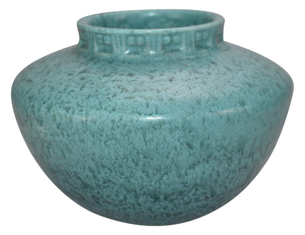 Roseville Pottery Tourmaline Turquoise Ceramic Bowl A-200-4 from Just Art Pottery