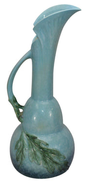 Roseville Pottery Wincraft Blue Art Deco Ceramic Ewer 218-18 - Just Art Pottery
