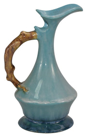 Roseville Pottery Wincraft Blue Ceramic Ewer 217-6 - Just Art Pottery