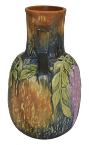 Roseville Pottery Wisteria Blue Vase 638-9 - Just Art Pottery
