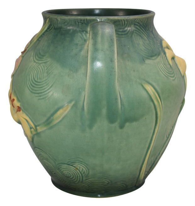 Roseville Pottery Zephyr Lily Green Ceramic Cookie Jar 5-8 - Just Art Pottery