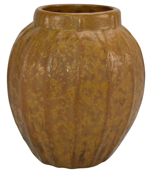 Van Briggle Pottery 1906 Flowers Mottled and Curdled Brown Ceramic Vase Shape 548 from Just Art Pottery