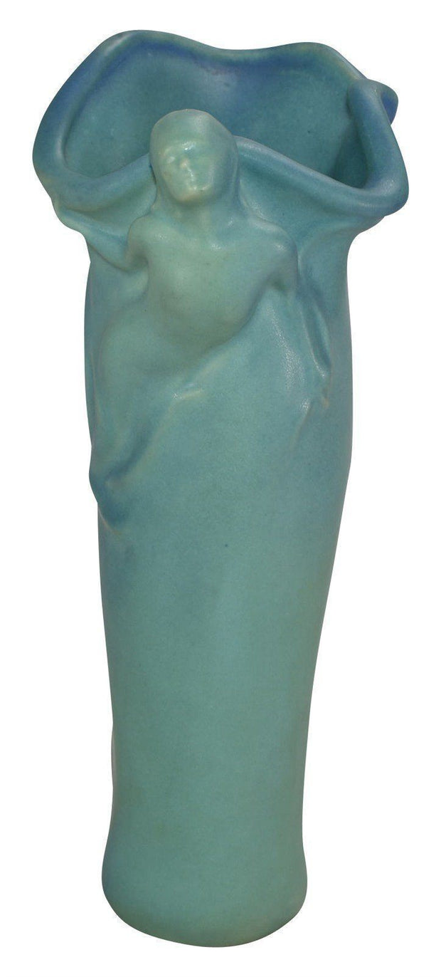 Van Briggle Pottery 1997 Collectors Society Female Figural Vase - Just Art Pottery