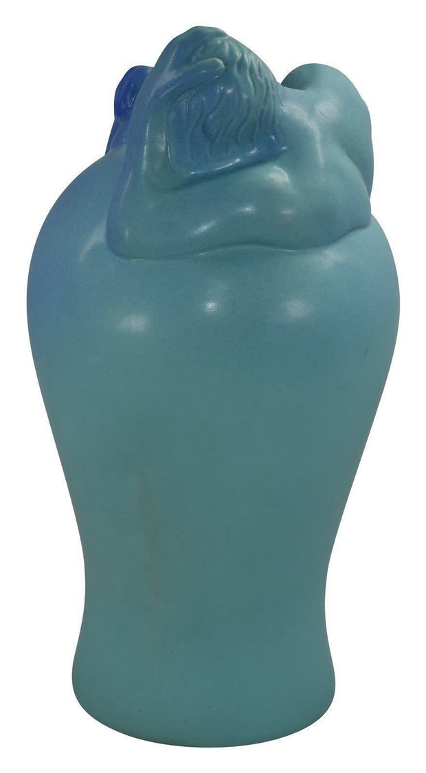 Van Briggle Pottery Despondency Blue Vase (Pache) - Just Art Pottery