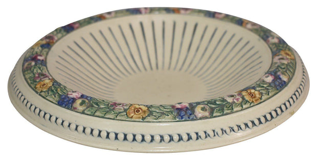 Weller Pottery Florala Low Flaring Edge Ceramic Bowl - Just Art Pottery