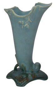 Weller Pottery Oak Leaf Blue Vase - Just Art Pottery