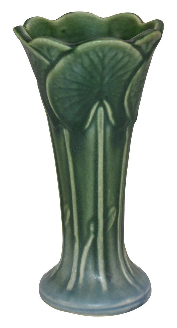 Weller Pottery Pumila Blue And Green Ceramic Vase - Just Art Pottery